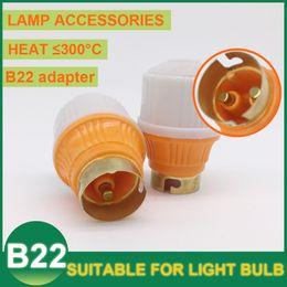 Wholesale Hot Base Type b22 bulb base Lamp Holder Sockets Adapter Converter High grade Suspension Hanging Light Lamp Holder Fitting LED CFL Bulb