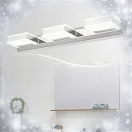 Bathroom Mirror Lighting Warm white White Wall Lamps LED Mirror Lamp Mirror-front Lighting Mirror Front Wall Lamps Acrylic Stainless Steel