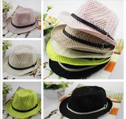 Wholesale Cotton Floppy Wide Brim Hats Parent child Jazz hat High Quality New Korean British style curling sun hats