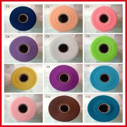 Wholesale 2016 Hot Sale Tulle Roll Spool inch yard Fabric DIY Tutu Skirt Tulle Rolls Wedding Gift Bow Craft Decoration Tulle Tulle Roll BM0001