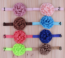 Chic Infant Headbands Girl Chiffon Rose Flower Hairbands Children Hair Accessories Newborn Satin Rose Flower Hair band For Christmas