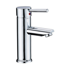 Wholesale and retail bathroom basin faucets tap mixer solid brass deck mounted hot and cold water taps mixer faucets faucets for bathroom