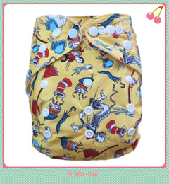 Wholesale 2015 New Design Cartoon Prints Newborn Cloth Diapers Washable Without Insert Nappies