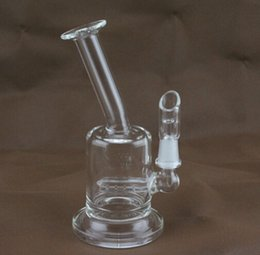 Wholesale 2015 super mini bong best quality two function clear Mini bubbler glass ash catcher inline percolator water pipe oil rig bong