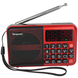 Wholesale Digital FM Radio Receiver MP3 Player TF Card USB Disk Speaker With Rechargeable Battery Y4171
