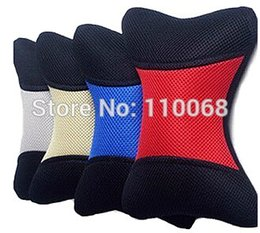 Wholesale 1 Pairs Color Choice Car Seat Head Rest Neck Pillow Mesh Cover