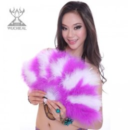Wholesale 2016 Baby Shower Rushed Promotion Decorations m Festa Birthday Kids Advanced Belly Dance Fan Turkey Feather Dj1030