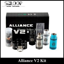 Wholesale Newest Alliance V2 RDA Kit mm Diameter Rebuidable Dripping Atomizer Clone DIY Post Deck Big Drip Tip Drop Tank