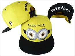Wholesale despicable me hat peaked cap unisex snapback hiphop cap children Baseball Cap minion cap for kids adults in stock