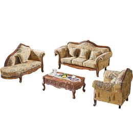 European Neo-classical Sofa combination living room Sofa fabric Sofa chaise American Retro