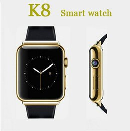 Wholesale Smart Watch K8 Android system with M pixels Webcam Wifi FM for Iphone Samsung Huawei Xiaomi Smartphones Support SIM Card GPS Camera