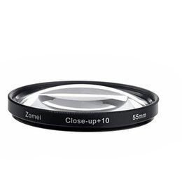 Cerca filtros en Línea-Envío gratuito + ZOMEI 55mm 10 Macro Close up de la lente de filtro para SLR Canon Sony Nikon mayorista