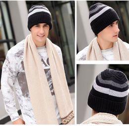Wholesale Mills Worsted Wool Men Knit Hat soccer basketball hockey hat keep warm Outdoor knitting Skull Hats Fall Winter Sports