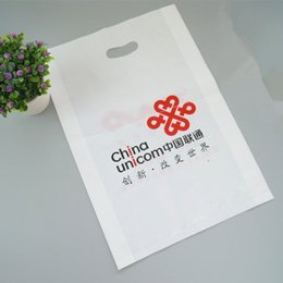 Wholesale Customized printing customer logo size17 cm thickness micron Raw material gift shopping plastic bag with low price and good quality