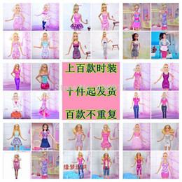 Wholesale piece Fashion Beautiful clothes doll casual dress for barbie doll