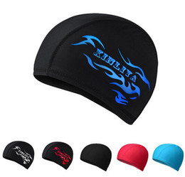 Wholesale Summer swimming cap silicone hats water proof elastic free size swim caps for men and women thermal spring cap