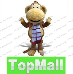 Wholesale Professional custom Big mouth monkey Mascot Costume Party Supply Adult Size AAA13