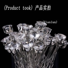 Vente en gros 20pcs Lot 10mm Clear Round Wedding Nupti Party Femmes Girl Hair Pin Clips Hair Jewelry Livraison gratuite à partir de fabricateur