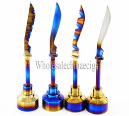 Glass Bongs Titanium Nail Carb Cap Rainbow Ti Nail Joint 18mm for Universal Smoking Water pipe glass Oil Rigs Vaporizer