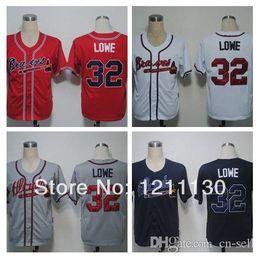Wholesale 2015 New Hot Selling Men s Baseball Derek Lowe Jersey Atlanta Braves Jersey Shirt Home Road Away Red White Grey Blue Top Quality