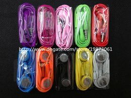 Colorful In-Ear Earphone Headphone Headset 3.5mm with Mic Colorful Earphones for iphone 4 4s 3gs 5 5s Samsung One Blackberry 500 Pcs