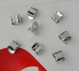 Wholesale 20PCS cm regular oval styles plain metal hair claw at silver finish at lead free and nickle free Bargain for Bulk
