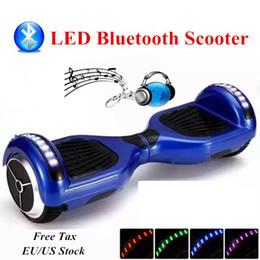 Scooter Smart Balance Hoverboard US UK STOCK Smart Balance Scooter Bluetotoh Electric Scooters With Bluetooth Speaker LED Light