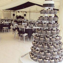 50pcs Laser Cut Black Cupcake Wrapper Filigree Vine Wrap Collars Cups Liner Halloween Decoration Birthday Party