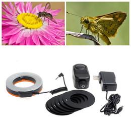 Compra Online Anillo de luz led de la cámara-[Envío libre] Flash de iluminación macro del anillo de Makro de W48 LED para DSLR para la cámara ZM00088 de CANON NIKON