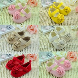 Wholesale Baby Shoes Baby Retail Girls Big Flowers Baby Toddler Shoes cm cm cm Spring Autumn Children Footwear First Walkers Baby Toddler