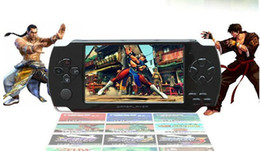 Wholesale 4 quot LCD Game Console PMP MP4 MP5 Player GB Free games Player Media AV Out FM with Camera