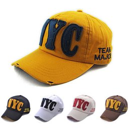 Wholesale-Hot sale nyc baseball cap new york city hat cheap sport caps for women and men free shipping