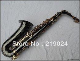 Gros-saxophone alto, noir plaqué nickelé, clé Eb à partir de clé eb fabricateur
