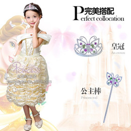 Wholesale new flower girl dress and Children s dresses Belle princess cake skirt dress stage clothes for children