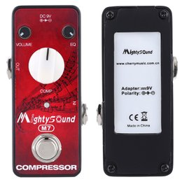Wholesale Hot Sale Mighty Sound M7 Mini Portable Compressor Effect Pedal for Electric Guitar with LED Indicator True Bypass I1635