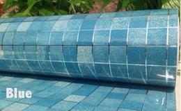 Wholesale Funlife x200cm Mosaic Colors Aluminum Foil Self adhensive Anti Oil Wallpaper for Kitchen High Temperature resistant wp1021