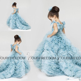 2019 Krikor Jabotian Little Flower Girls' Dresses for New Weddings Kids Princess Style Ball Prom Pageant Gowns with Ruffle Skirt Lon