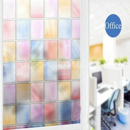 Wholesale Top Quality Color Lattice cm x m Decorative Toilet Bathroom Frosted Stickers Window Film order lt no track