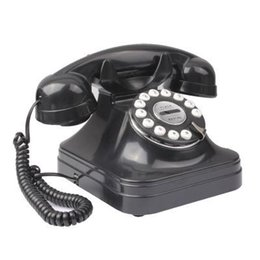 Wholesale Retro Style Antique Telephone Landline Wired Table Cordless Telephone for Home Office Black