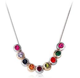 Promotion colliers de perles Nouveau Style 9 Collier Perles de Cristal accessoires de bijoux pour les couleurs Cadeau de Noël Femmes