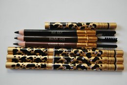 12pc New leopard black eye brow liner pen with brush Makeup Eyebrow eyeliner pencil !! Free Shipping!!