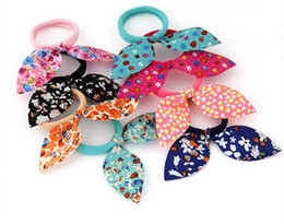 Mix Colorful Butterfly New Arrival Korean fashion Sweet Lace Hair Band Hair Trailing Rope Hair Accessories For Women