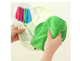 Wholesale Home kitchen cloths can hang bamboo fiber wash cloth is not contaminated with oil absorbent lint free dish towel