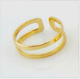Stylish Top Of Finger Knuckle Open Ring High grade Polishing Alloy Fashion Jewelry Double Layer Cluster Rings for Women 20pcs lot R083