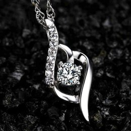 Wholesale 925 pure silver pendant necklace female fashion first act the role ofing is tasted clavicle valentine s day present for his girlfriend