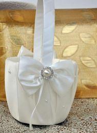 New Arrival 2020 Chrysanthemum Flower Basket Wedding Flower Girl Basket For Wedding Ceremoney Articles Party Supplies
