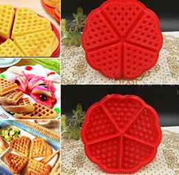 Wholesale 5 Heart Iyengar waffle Baking Tools Silicone Cookies And Biscuits Mold Pastry Cake Pan Cupcake Chocolate