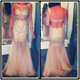2020 Sexy Mermaid Juniors Prom Dresses Backless Sparkly Beaded Long Formal Dress Evening Gowns New Designer Party Dresses