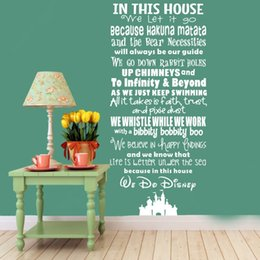 Wholesale In This House We Let it Go Vinyl Quote Wall Decal Art Decor Sticker for Living Room