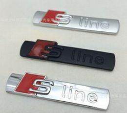 Wholesale pieces D black and matte Metal S line Car fender Emblem Badge Sticker Sline car styling